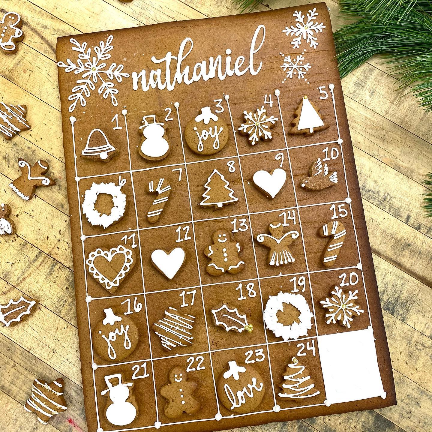 mollycake gingerbread advent calendar