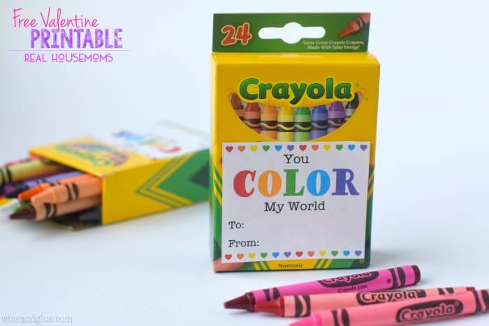 Crayon Valentines active parents
