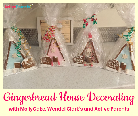 Gingerbread House Decorating Mollycake Wendel CLarks Active Parents Burlington