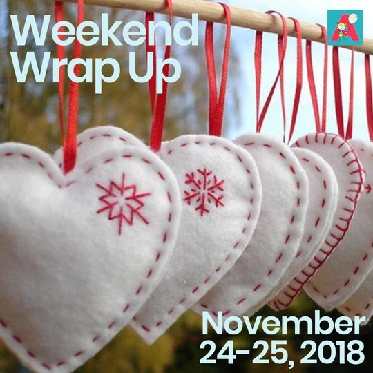 Weekend Wrap Up – November 24-25, 2018