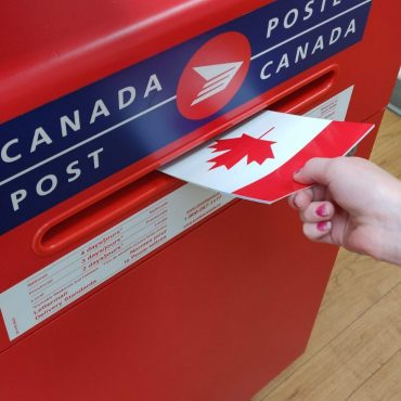 sending a Canadian postcard via Canada Post