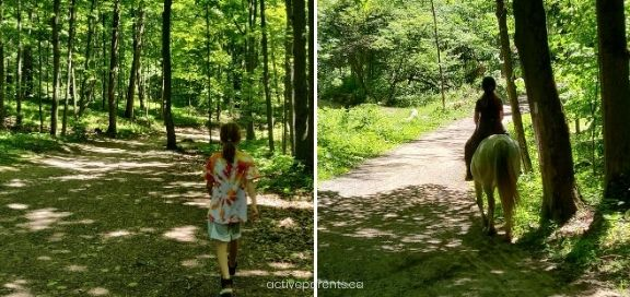 Hiking with kids in dundas valley