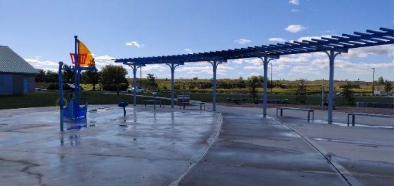 heritage green sports park playground splashpad
