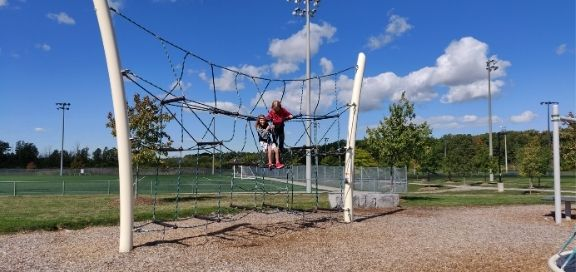 heritage green sports park playground climber