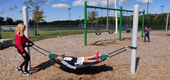 heritage green sports park playground swing