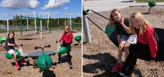 heritage green sports park playground small swings