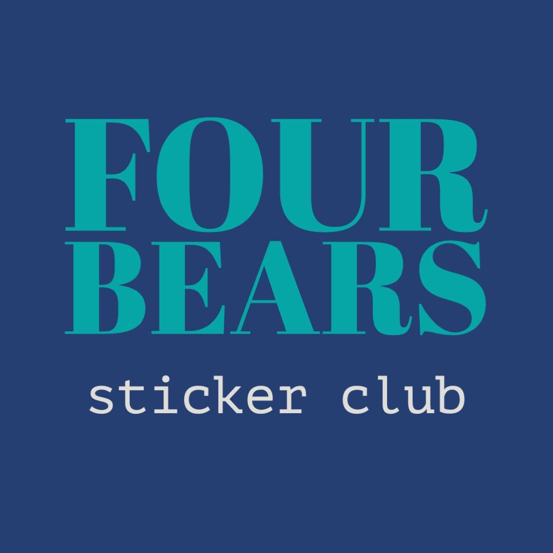 four bears sticker club