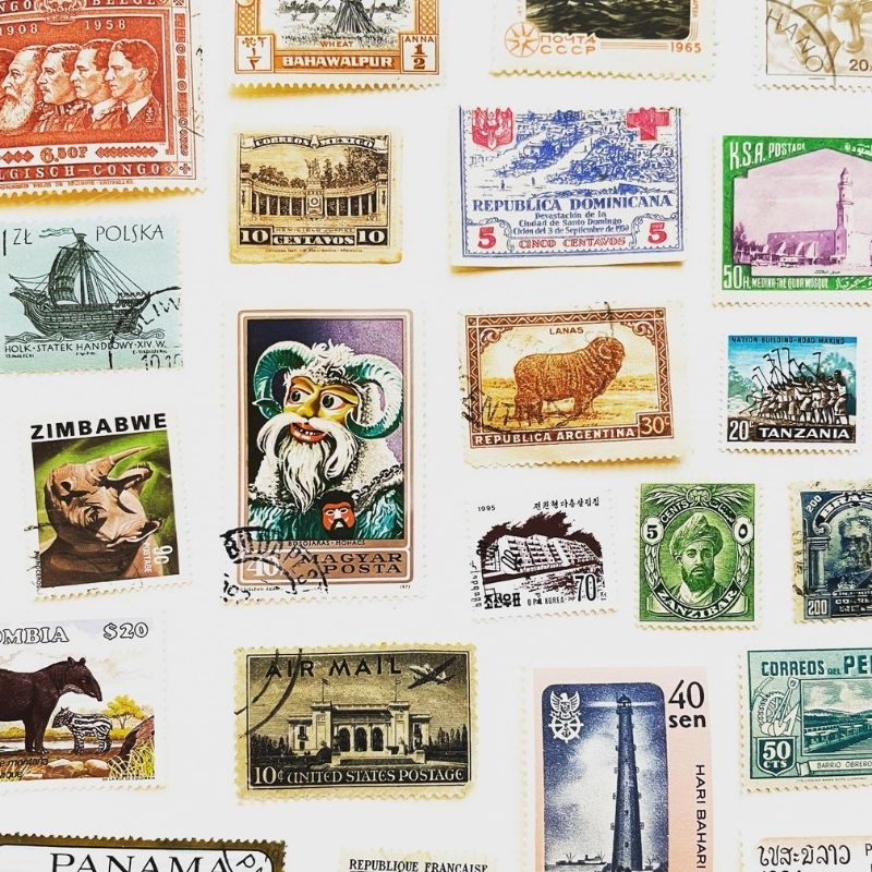 letters from afar blog image stamps