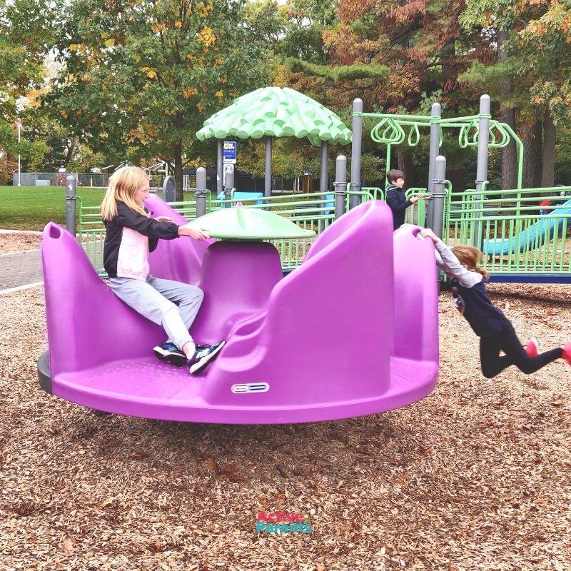 Lasalle playground burlington merry go round
