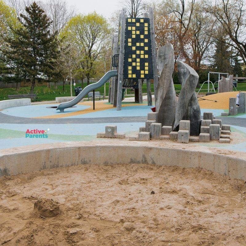 sandbox at jaycee park in mississauga