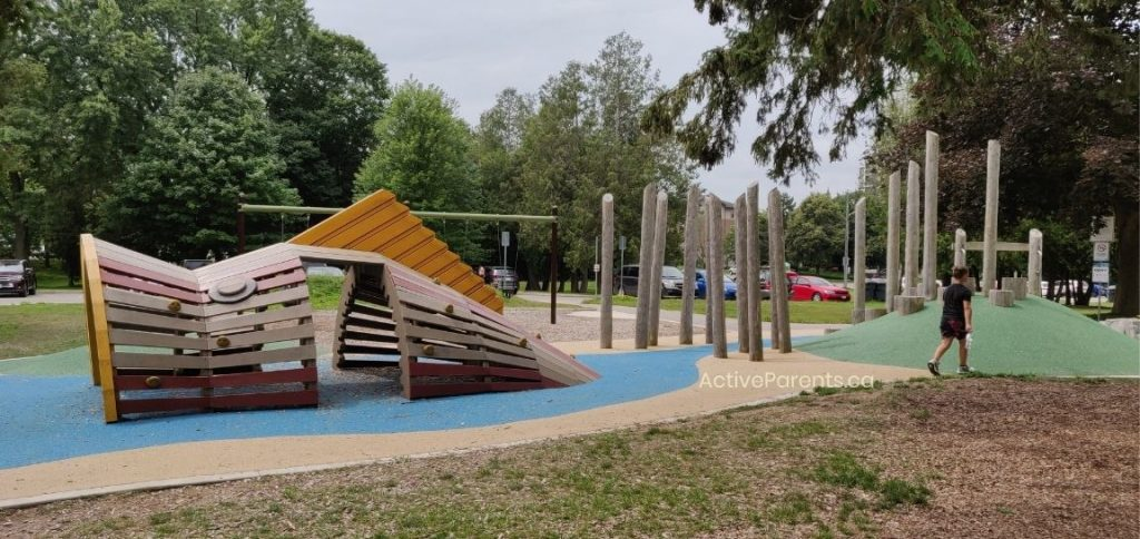 Section of the playground at Riverside Park