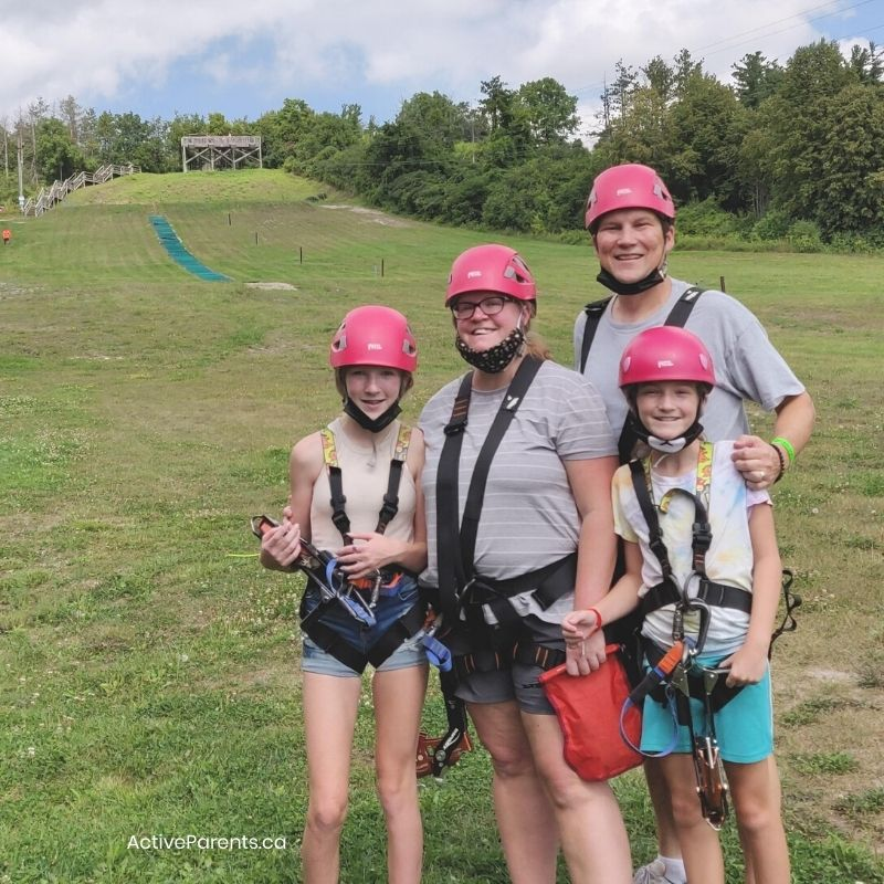 active parents at chicopee zip lining