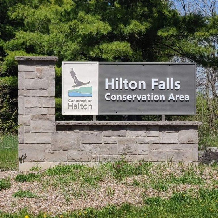 Hilton Falls conservation area signage in milton