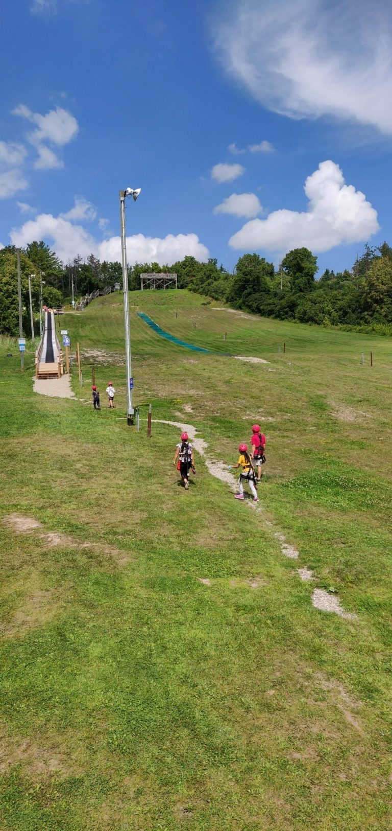chicopee tube hill and zip lining course