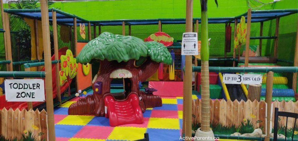 Toddler area at Lil monkeys in Burlington Ontario