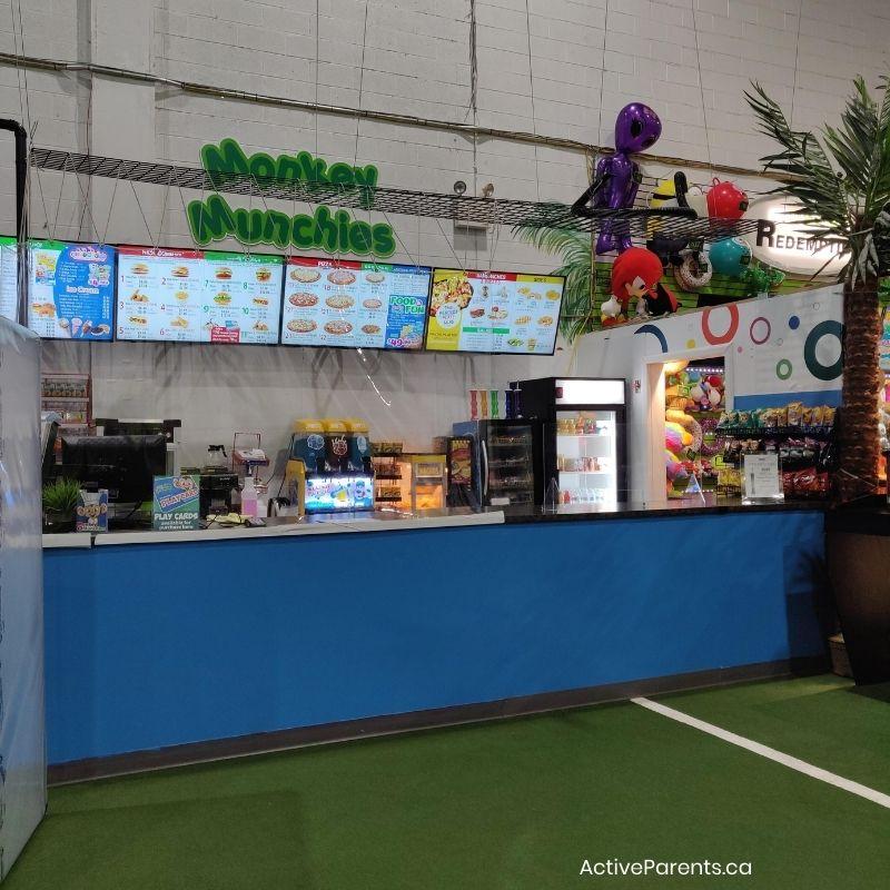 concession stand at lil monkeys burlington