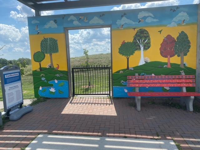 Art installation at Memorial Park in Oakville